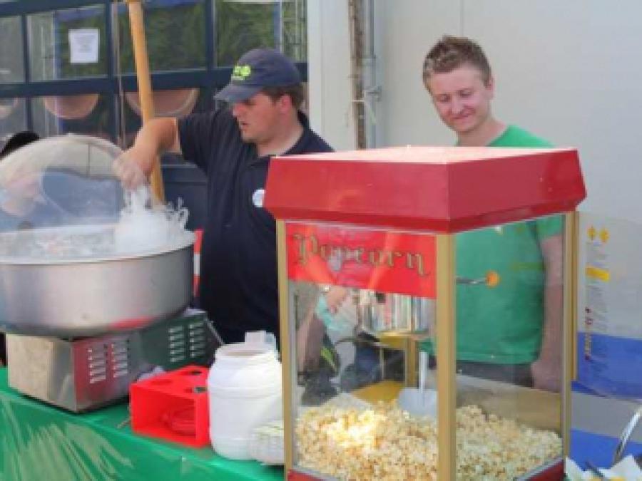 Funfood Popcorn Zuckerwatte Maschine mieten / leihen