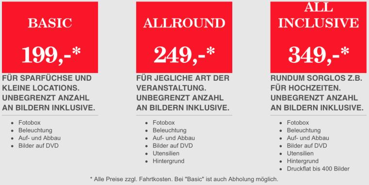 Fotobox / Photobooth mieten / leihen Ahaus