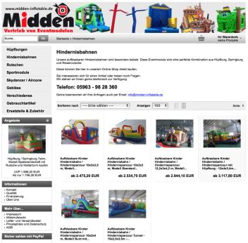 Aufblasbare Hüpfburg Hindernisbahn online kaufen