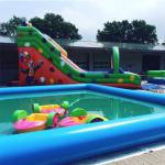 Riesen Rutsche Pool Kinderboot mieten leihen